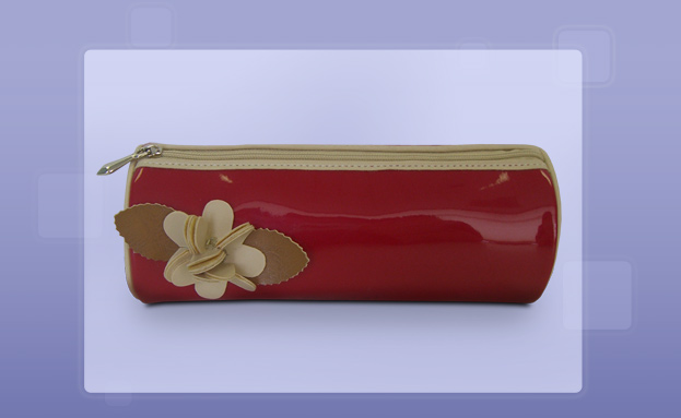 Novelty Bags: Red Patent Pencil Roll