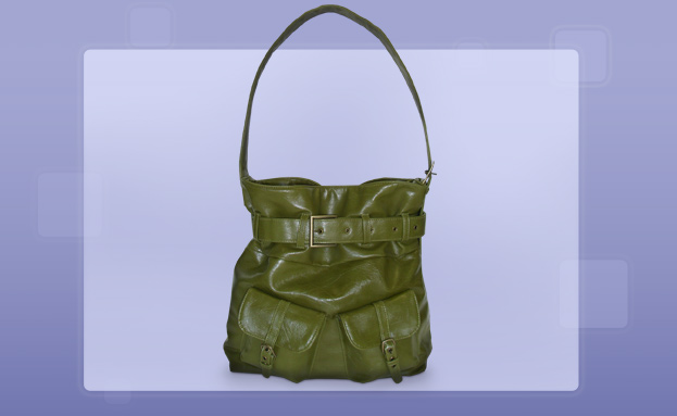 Fashion Handbags: Antique Green Hobo