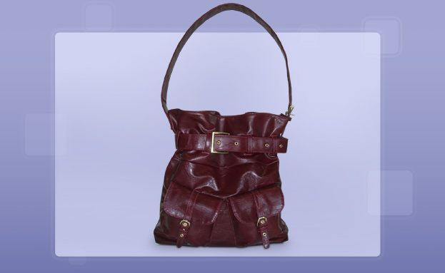 Fashion Handbags: Burgundy Hobo