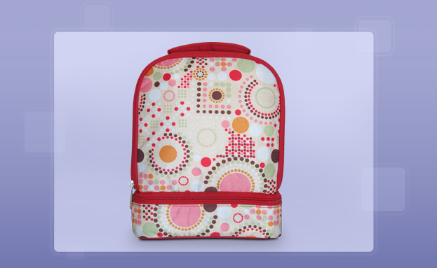 Kid's Lunch Boxes: Lunch Box - Red Geo